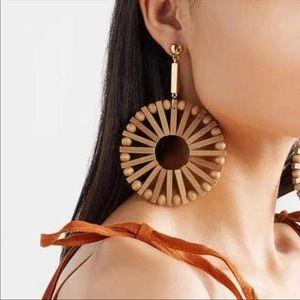Jewelry - Wood hoop earrings